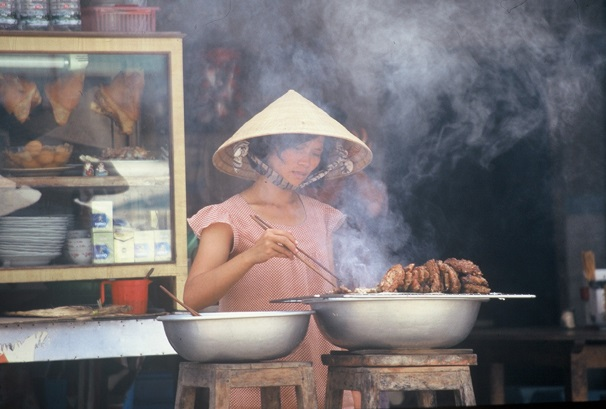 Vietnam - Woman cooking