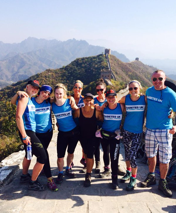 Amanda and her friends tackled the Great Wall of China for Diabetes UK in October 2015