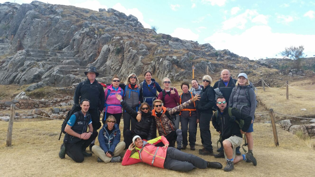 Oliver and the BHF trekking team in Peru