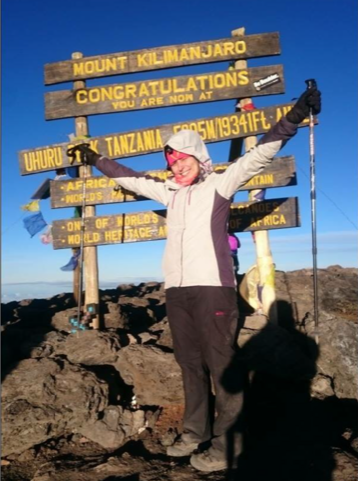 Sarah Fairhead, Charity Challenge Charity and Corporate Account Manager, at Kilimanjaro in Tanzania