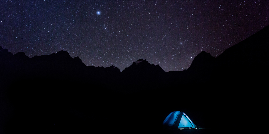 Camping in Andes on Trek to Machu Picchu with Charity Challenge