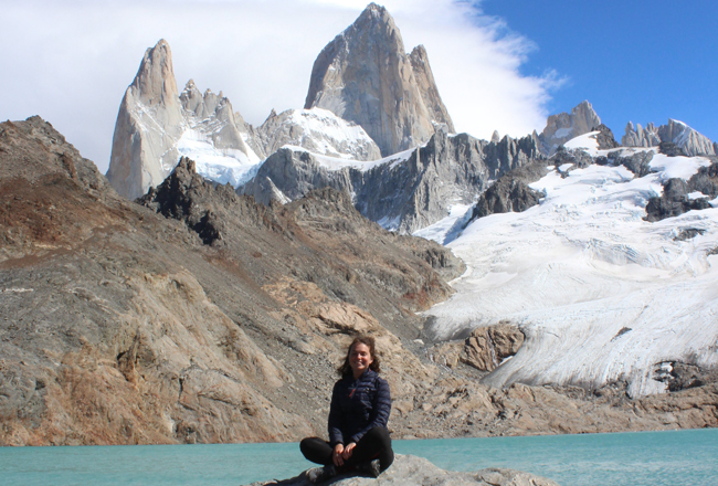 Sarah in Patagonia Charity Challenge team