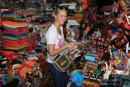 Shopping in the markets in Peru