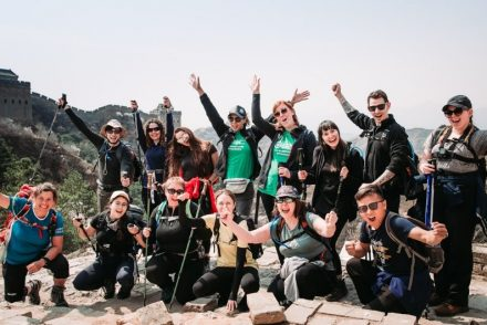 unexpected friends on the great wall of China trek